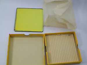 "KODAK WRATTEN YELLOW 4X4"" SQUARE GLASS DROP IN MOTION PICTURE FILTER IN ITS BOX"