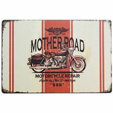 MOTHER ROAD Route 66 Motorcycle Repair Motorbike Metal Shed Garage Sign 20x30 UK