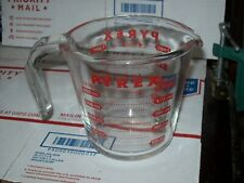 Pyrex 2 Cup Glass Measuring Cup, Red Lettering, with OZ And Metric mL