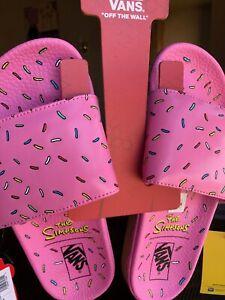 Simpsons X Vans Slide-on D'ohnut Donut Sandal Mens Sz.5, Women's Sz 6.5.