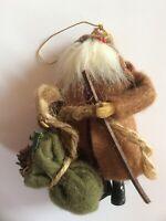 Vtg Rustc Santa Claus Christmas Tree Ornament