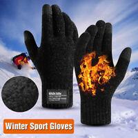 Men Winter Sport Gloves Warm Windproof Anti-slip Thermal Touch Screen Mittens