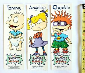 VINTAGE 1998 THE RUGRATS MOVIE PROMO  BOOKMARK SET - NICKELODEON TV SERIES TOMMY
