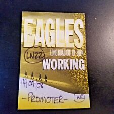 The Eagles Long Road Out Of Eden Tour Backstage Working Fabric Pass Unused back