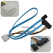 IDE 4Pin SATA 7Pin to SAS 7+15Pin Data Power Cable Adapter for PC Drive