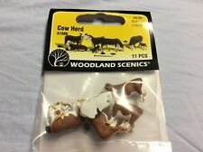 Woodland Scenics A1988 HO Scale Cow Figures Herd