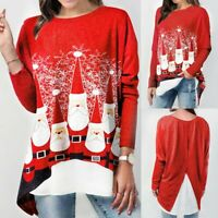 Ugly Christmas Sweater Women Sweatshirt Hoodies Blouse Xmas Pullover T Shirt Top