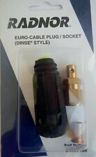 Radnor 64002168 SK-25 200a Dinse Style Male Euro Cable Plug #6 - #2 Cable QTY 2