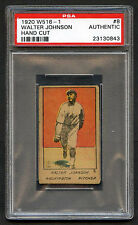 1920 W516-1 Walter Johnson #8 PSA Authentic Hand Cut HOF Washington Senators (3)