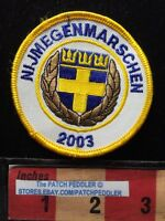 PATCH NIJMEGENMARSCHEN SWEDEN FLAG THEME COLLECTIBLE TRAVEL SOUVENIR 2003 62ZZ