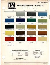 1972 OLDSMOBILE TORONADO F85 CUTLASS SUPREME 442 DELTA 88 98 72 PAINT CHIP RM  7