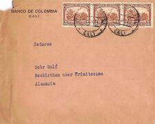 Carta correos de Colombia 5 cinco centavos banco de colombia cali 1937