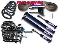 "Crown Suspension 2000-2006 SUV 3-4"" Torsion Keys Drop Spring Shocks Lowering Kit"
