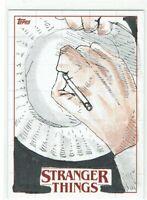 Stranger Things Season 1 Topps 2018 Sketch Card 1/1 Artist Gregg Mitchell