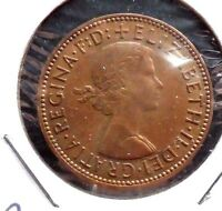 CIRCULATED,AU IN GRADE, 1960 1/2 PENNY UK COIN (22615)