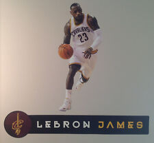 """Lebron James FATHEAD Player Graphic 26"""" Junior Size w/ NAME Sign 35"""" Cavaliers"""
