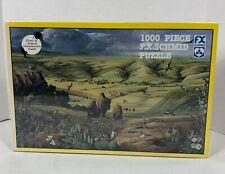 Sealed Vintage F.X. SCHMID 1000pc Puzzle North American PRAIRIE VANISHING VISTA