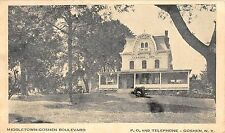 c.1920 Cannon Inn Middletown Goshen Boulevard Goshen NY post card Orange County