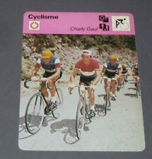 FICHE CYCLISME 1958 CHARLY GAUL ANQUETIL BOBET TOUR FRANCE WIELRIJDER CICLISMO