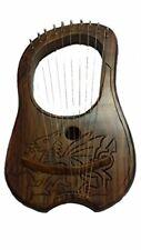 Harfe House Of Scotland Leier Gravur keltischem Drachen-Motiv unvollständig