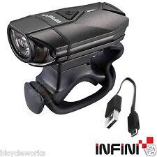 Infini Super Lava Rechargeable Headlight Lights 300 Lumen Front Bike Flashing 3W
