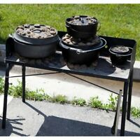 Large Dutch Oven Portable TABLE Outdoor Kitchen Camping Charcoal Cook Tailgate