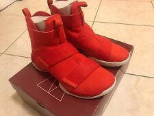 NIKE LEBRON JAMES SOLDIER X 10 SIZE 9.5 COLOR SFG RED MEN