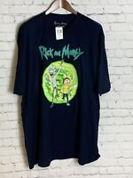 New Rick And Morty Mens Short Sleeve T Shirt Blue Size 3XL