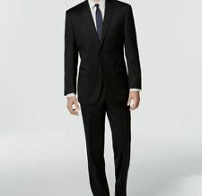 Calvin Klein 2 Button Modern Fit Mens Black Wool Suit 40r 34w