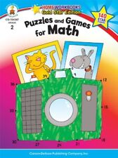 Puzzles and Games for Math, Grade 2: Gold Star Edition (Home Workbooks)