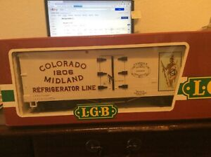 LGB Colorado Midland Refrigerator Car  #1206, LGB #4-72-P01 NOS