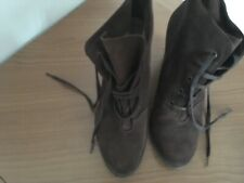 Mango ladies brown suede ankle boots size 6 - 7 ( hardly worn)