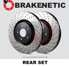 [REAR SET] BRAKENETIC PREMIUM Cross DRILLED Brake Disc Rotors BNP44188.CD