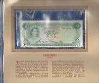 Most Treasured Banknotes Bahamas 1974 1 Dollar P-35b AUNC Prefix N/1 Allen*