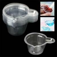 DIY 50X 40ML Plastic Disposable Cups Dispenser For Epoxy Resin Jewelry Making