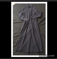 LANDS END Mock Turtleneck Dress Medium Petite 10 12 Woman's Black