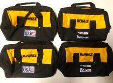 "(4) NEW DEWALT 13"" X 10"" X 9"" Medium Tool Bags w/ 6 Outer Pockets & Solid Skids"