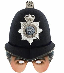 Britisch Polizist Einzel 2D Karten Party Halb Gesichtsmaske
