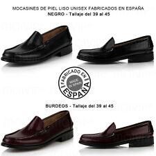 Zapatos Mocasines de piel hombre estilo Castellanos Nauticos con suela de cuero.