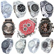 10pcs/Lot,  Mixed Bulk Fashion Watch Stainless Steel Men Dress Wristwatches NST2