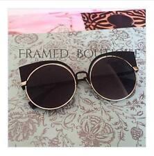 Gafas de sol Cateye de Negro Reflectante Diseñador Celebridad caso incluido .22