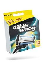 Gillette Mach3 Pack Of 12 Cartridges, Men's Shaving Blades For Razor |Free Ship