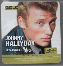 JOHNNY HALLYDAY  3 CD DANS UN BOITIER METAL*LES ANNEES VOGUE* NEUF SOUS BLISTER