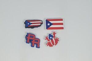 PUERTO RICO Latino Hispanic Shoe Charms for Crocs Fashion Decoration 4 pcs