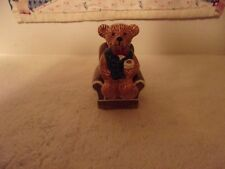 Ceramic Salt & Pepper Shakers Teddy Setting In A Chair Teddy Is Removable
