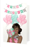 Pink & Green Fabulous Birthday Card