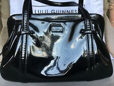 Lulu Guinness Black Patent Leather Bag & Dustbag Immaculate Condition