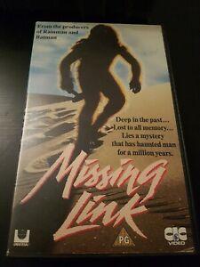 MISSING LINK CIC VIDEO - EX RENTAL BIG BOX VHS