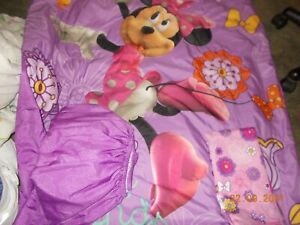 4 Piece Minnie Mouse Disney Bedding Set Girls Toddler Comforter Sheets Bed Cover