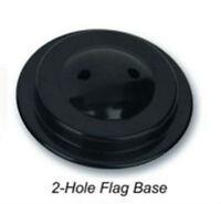 6 Six Hole Black Base For Desk Set Table Stick Flags Single Base